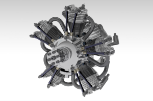 hvězdicový pětiválec  star engine sternmotor